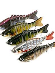 5 pcs Hard Bait Jerkbaits Minnow Assorted Colors g/Ounce,10cm mm inch,Hard PlasticSea Fishing Spinning Trolling & Boat Fishing Bass