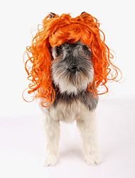 Cat Dog Fashion Orange Wig Party Birthday Holiday Cosplay Halloween Christmas