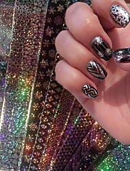 16Pcs Black Halloween Christmas Super Quality Nail Sticker Star paper