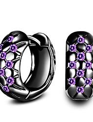 Dámské Náušnice - Kruhy Kubický zirkon Módní bižuterie Pozlacené Circle Shape Šperky Pro Denní Ležérní