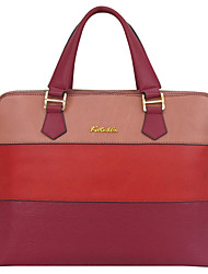 Ms. Kate&Co. distinguished head layer cowhide embossed three color stitching 13 inch Laptop bag TH-02242 red