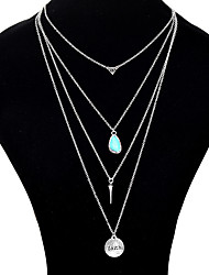 Mulheres colares em camadas Formato de Folha Liga Original Acrilíco bijuterias Jóias Para Festa Diário Casual