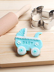 Pram Baby Carriage Car Cookies Cutter Stainless Steel Biscuit Cake Mold Metal Kitchen Fondant Baking Tools