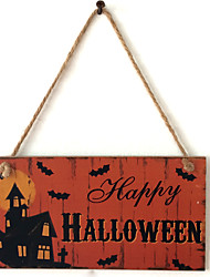 Manufacturer direct sale wooden handicraft Halloween to list the wooden ghost festival night ghost house adornment board