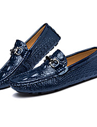 Men's Loafers & Slip-Ons Light Soles Cowhide Spring Summer Casual Light Soles Blue Black White Flat