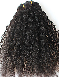 CARA Hair Afro Kinky Curly Clip in Human Hair Extensions Natural Brazilian Virgin Hair Clip-in Full Head 7Pcs/Set 12-24 Inch
