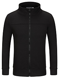 Men's Casual Casual/Daily Vintage Simple Shirt,Solid Hooded Long Sleeve Cotton