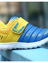 Para Meninos Tênis Primeiros Passos Couro Ecológico Primavera Outono Ar-Livre Casual Caminhada Velcro Salto Baixo Azul Black / azul