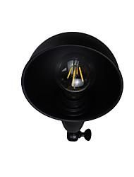 Qsgd ac220v-240v 4w e27 led светло-окрашенная стальная настенная лампа немой черный американский украшение кофе ретро настенный светильник