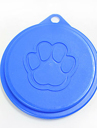 Pet Plastic Canned Cover Claw Print Style Pet Products Dog Bowl Lid Cat Tableware Food Lid Dog Supplies