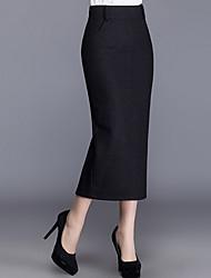 Mujer Noche Midi Faldas,Lápices Bloque de Color