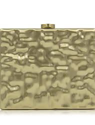 Women Evening Bag Metal All Seasons Casual Event/Party Wedding Minaudiere Metallic Snap Gold Handbag Clutch More Colors