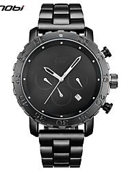 SINOBI Homens Relógio Esportivo Relógio de Moda Relógio de Pulso Chinês QuartzoCalendário Impermeável Cronômetro imitação de diamante