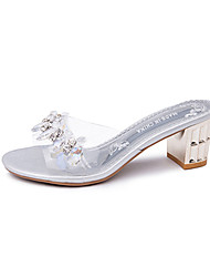 Damen Sandalen PU Sommer Blockabsatz Gold Silber 10 - 12 cm