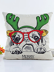 1 pcs Dog design Pillow CaseStriped Christmas series