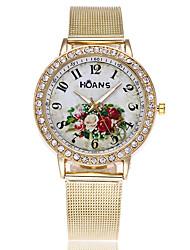 Mujer Reloj de Vestir Reloj de Moda Chino Cuarzo Aleación Banda Encanto Casual Elegantes Dorado