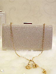 Women Bags All Seasons PU Evening Bag with for Event/Party Party & Evening Club Champagne Gold Black Silver