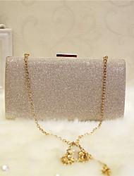Damen Taschen Ganzjährig PU Abendtasche mit für Veranstaltung / Fest Klub Party & Festivität Champagner Gold Schwarz Silber