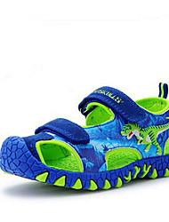 Para Meninos Sandálias Casual Shoe luminous Pele Verão Casual Casual Shoe luminous Estampa Animal Rasteiro Azul Rasteiro