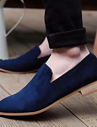 Masculino sapatos Pele Real Tule Primavera Conforto Oxfords Para Casual Preto Amarelo Verde Azul