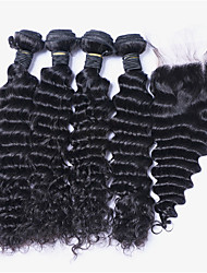 One Pack Solution Malaysian Texture Deep Wave 6 Months 5 Pieces hair weaves