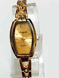 Mujer Reloj de Pulsera Reloj Pulsera Chino Cuarzo Aleación Banda Casual Oro Rosa