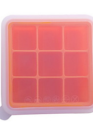 Export Europe And The United States Food Grade Silicone Ice Grid DIY Production With A Lid 9 Grid