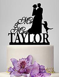 Decorações de Bolo Casal Clássico Casamento Animais Tema Clássico Romance Casamento Bolsa Poly