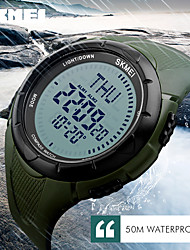 Women's Men's  Sports Watches World Time Compass Countdown Wristwatches 50M Waterproof 3 Alarm Digital Watch Automatic Army Military