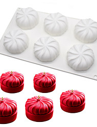 6Cavities Pumpkin Shaped Mousse Mold Non Stick White Silicone Cake Bread Chocolate Pastry Mold DIY Baking Tool Bakeware Cake Pan m-39
