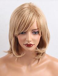 Simple elegancia medio onda natural pelucas de cabello humano