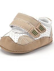 Newborn Baby Kids' Sneakers First Walkers Microfibre Fall Winter Party & Evening Dress Casual Hook & Loop Flat Heel Khaki Flat