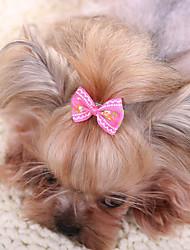 Аксессуары для шерсти Одежда для собак Очаровательный На каждый день Мода Бант Желтый Пурпурный Красный Синий Розовый