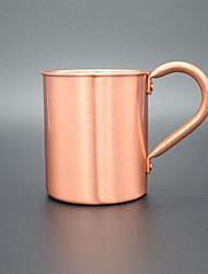 В помещении На каждый день Стаканы, 450 Нержавеющая сталь Медный Телесный МолокоНеобычные чашки / стаканы Чайные чашки Бутылки для воды