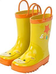Girls' Flats Comfort Rubber Spring Fall Outdoor Casual Walking Magic Tape Low Heel Blushing Pink Blue Yellow Flat
