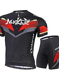 Nuckily Maillot et Cuissard de Cyclisme Vélo Ensemble de Vêtements Séchage rapide Résistant aux ultraviolets Poche arrière Tissu Ultra