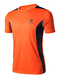 Men's Running T-Shirt for Camping / Hiking Exercise & Fitness Racing Backcountry Running Polyester Tight Black Orange Navy Blue Fruit