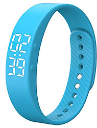 3D T5S LED Display Sports Gauge Fitness Bracelet Smart Step Tracker Pedometer
