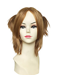 Cosplay Wig Synthetic Fiber Wig Short Kinky Straight Heat Wig Anime Party Wig
