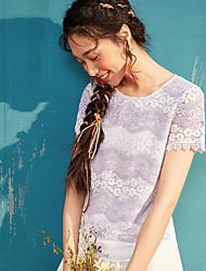 Dámské Jednobarevné narozeninová oslava Běžné/Denní Jednoduché Tričko Polyester Kulatý Krátký rukáv