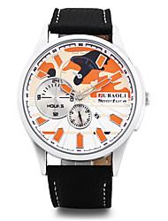 JUBAOLI Masculino Relógio de Moda Relógio de Pulso Chinês Quartzo Calendário Mostrador Grande Aço Inoxidável Lega Banda Legal Preta