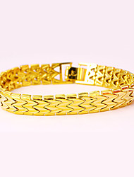 Gold Plated Fashion Watchband Chain Link Bracelet Simple Luxury Jewelry birthday party punk style