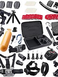QQT for Gopro accessories Set support Strap Helm Harness Brustgurt mini stick Einbeinstativ Stativ Go pro Hero 5 4 3  xiaomi yi
