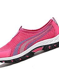 Для женщин Мокасины и Свитер Удобная обувь Полиуретан Весна Осень Для прогулок Темно-синий Лиловый Пурпурный Светло-серыйНа плоской