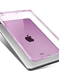 Para Case Tampa Transparente Capa Traseira Capinha Côr Sólida Macia PUT para Apple iPad Mini 3/2/1