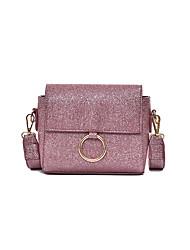Women Shoulder Bag PU All Seasons Formal Casual Wedding Outdoor Office & Career Professioanl Use Saddle Magnetic Pinky Sliver Brown Black