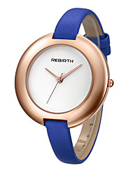 REBIRTH Dámské Módní hodinky Křemenný PU Kapela Černá Modrá Červená Orange Hnědá
