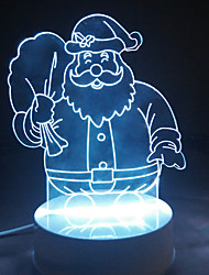 3D Acrylic Christmas LED Lamp Discoloration Night Lights for Kids Room Decorative Lamps Remote Control Santa Claus Lights Lamps for Family