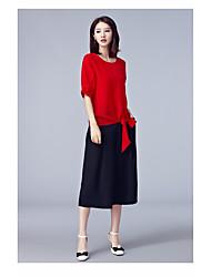 Damen T-Shirt-Ärmel Hose Anzüge,Rundhalsausschnitt Sommer Halbärmel