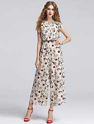 Femme Style floral Taille Normale Sortie Décontracté / Quotidien Vacances Combinaison-pantalon,Large Ample Mince Mode Floral / Botanique